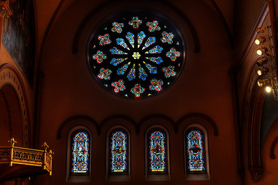 St. Mary's Rose Window North Side.