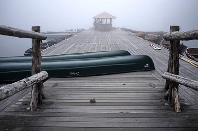Mohonk Boat Deck In Fog