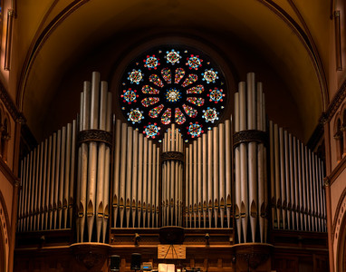 St. Mary's Yonkers - Organ Loft and Rose Window