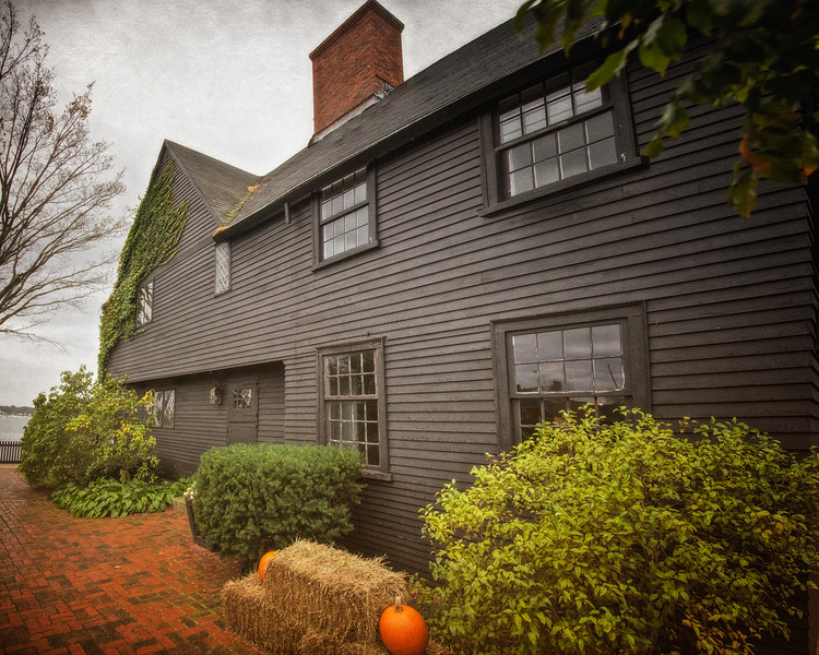Colonial Era Architecture: The House of Seven Gables, c. 1668, Turner-Ingersoll Mansion, Salem, Essex County, Massachusetts
