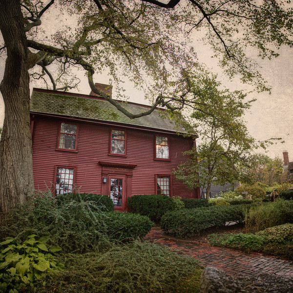 Literary Landmarks: The Nathaniel Hawthorne House, Nathaniel Hawthorne's Birthplace, c. 1750, The House of Seven Gables National Historic Landmark District, , Salem, Essex County, Massachusetts