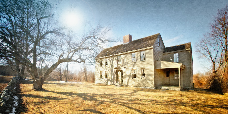 Landmarks of the American Revolution: Samuel Brooks House, c. 1692, Battle Road, Minute Man National Park, Lexington and Concord, Middlesex County, Massachusetts
