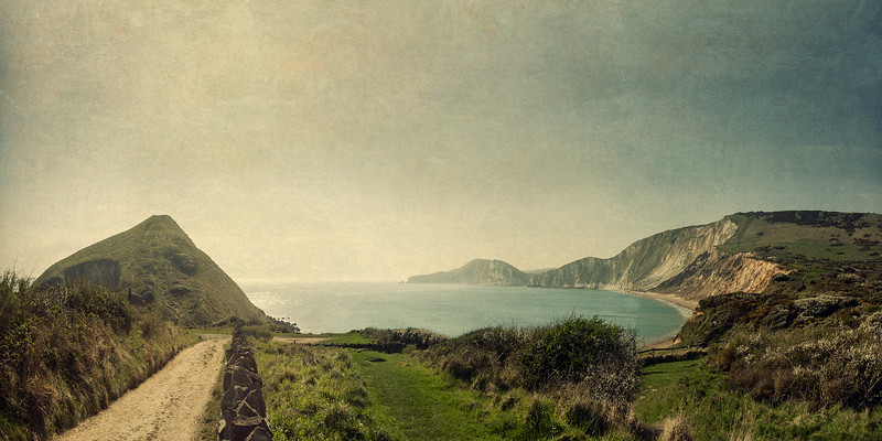 Worbarrow Bay, Dorset, UK. Todd Atteberry, artist.
