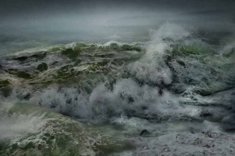 New England Landscapes: Tropical Storm Ida, Stephen Fields Beach, Plymouth, Massachusetts