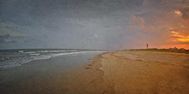 South Carolina Seascapes: Towards Fort Moultrie, Sullivan's Island, Charleston, South Carolina