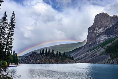 Rainbow Behind Moraine Lake