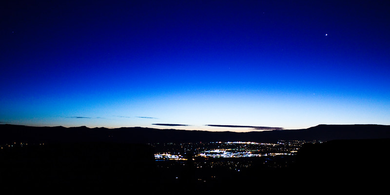 Grand Junction, CO from Colorado National Monument 6:18 AM