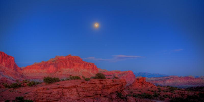 Panorama Point, UT Moonrise 7:35 PM