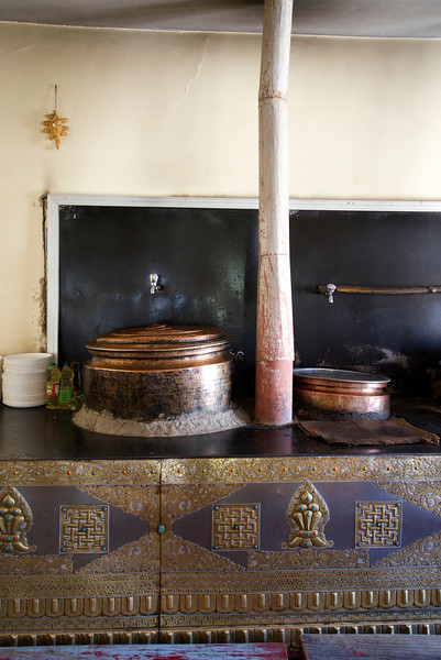 Kitchen at Thiksey Monastery