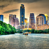 Downtown Austin Texas from the Boardwalk on Ladybird Lake #5