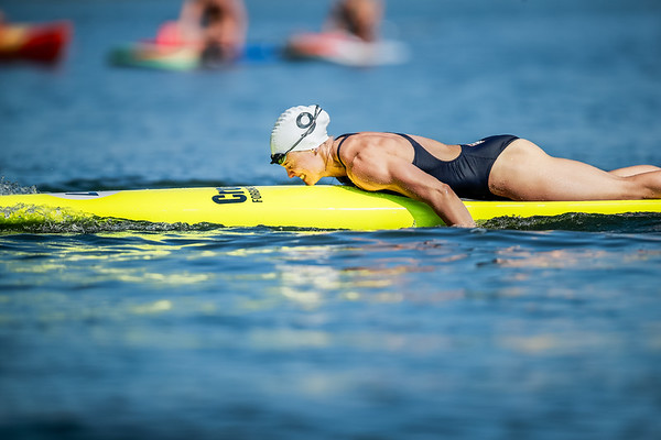 Taking a time out on the Swim Paddle Event
