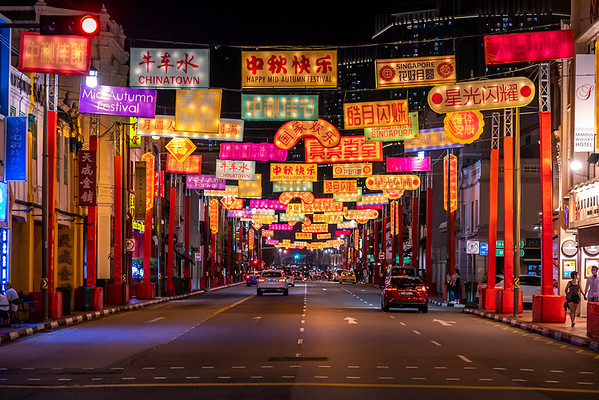 Mid-Autumn lanterns display at Chinatown.