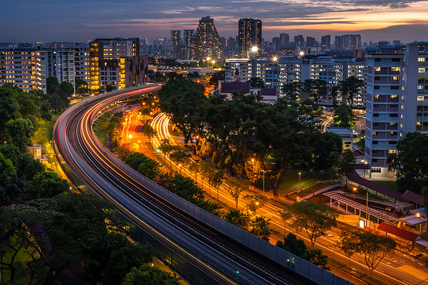 City living in Singapore.