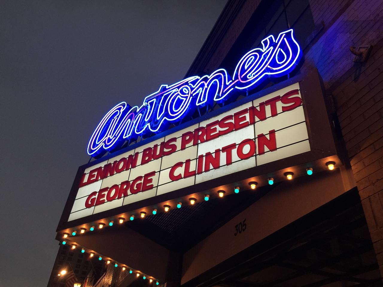 2016_03_18, Austin, TX, George Clinton, Antones