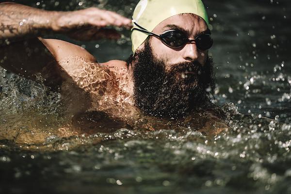 "Joey Tortora of team Central Beasts in ""Team Swim Paddle"""