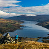Looking down Loch Tay from Sron a' Chlachain