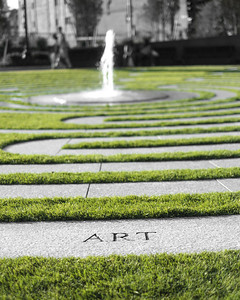 20120721.  The Labyrinth on Rose Kennedy Greenway.