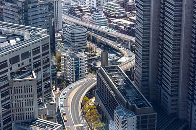Raised Expressway Winding Through Shinjuku Tokyo