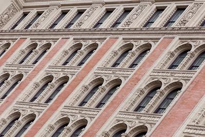 Ornate window frames, Philadelphia.