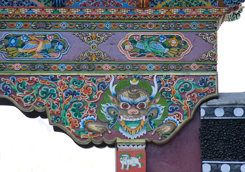 Gate at Thiksey Monastery