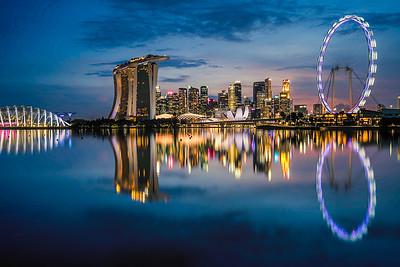 Singapore's Marina Bay Skyline.