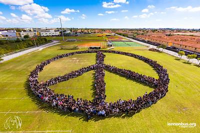 2017_11_08, FL, Hialeah Gardens, Hialeah High School, Peace Sign
