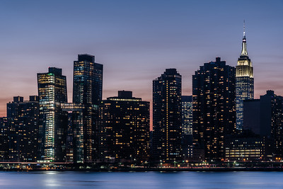 View of Manhattan skyline from