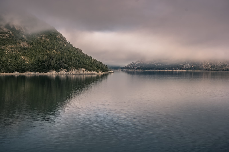 Misty day on the Alaskan Inside Passage