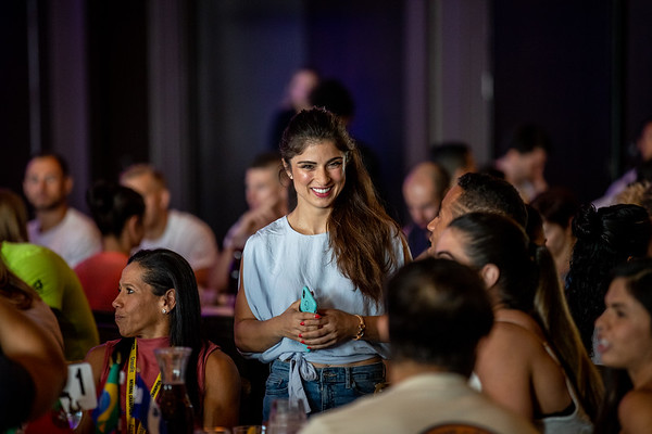 Athletes from 114 Countries Gathered at the Athlete Dinner on Tuesday night before the Games kicked off