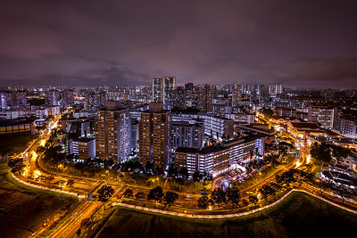 View of Bishan town at night.