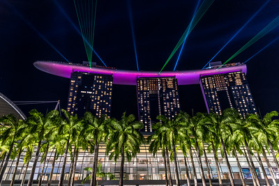 Marina Bay Sands Light show.