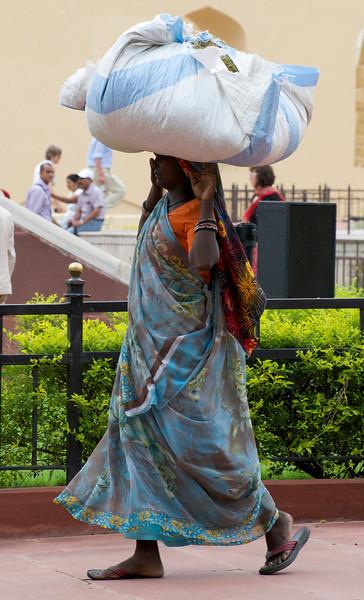 Bearer in the Jantar Mantar, Jaipur