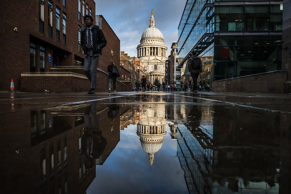 Reflection of St Paul Cathedral