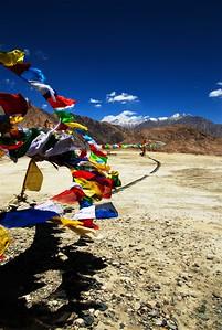 Take our prayers to the heavens (near Leh, Ladakh)