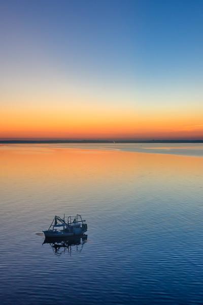 Fishing at Sunset on Mobile Bay