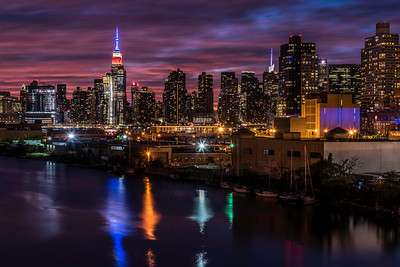 View of Empire State Building from Pulaski Bridge
