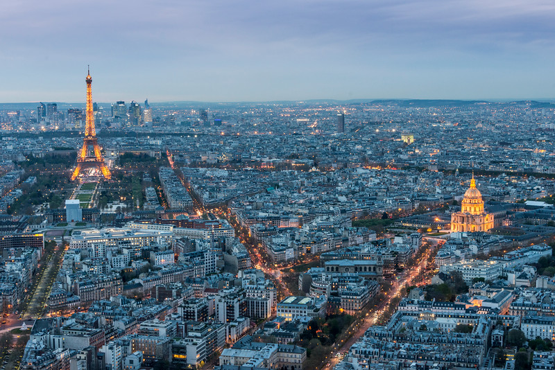 Paris at Sunset.