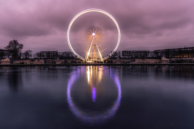 View of the Big Wheel (Roue de Paris) at Jardin des Tuileries.