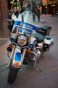 20120916.  Boston Police Motorcycle on Washington Street, Boston MA.