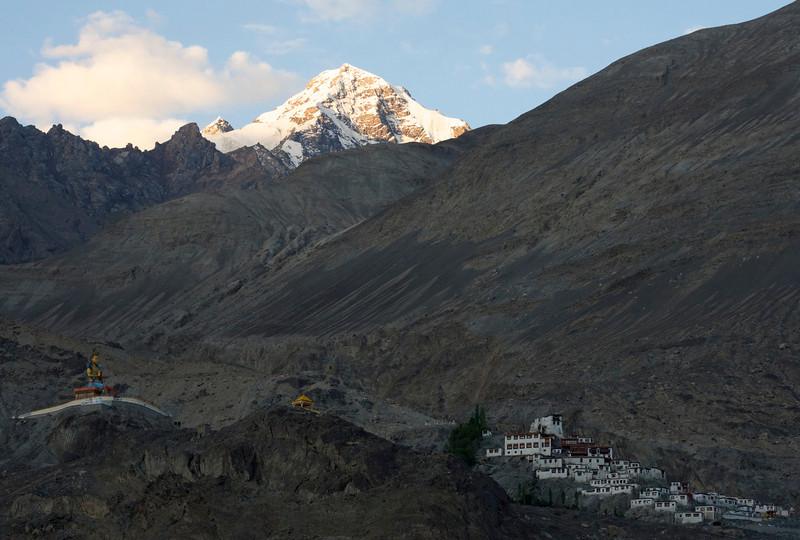 Sunrise over Diskit Monastery