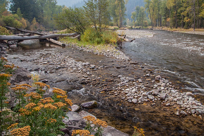 Smoke from nearby wildland fires creates a dramatic effect at Rock Creek, north of the Rock Creek Recreation Area.