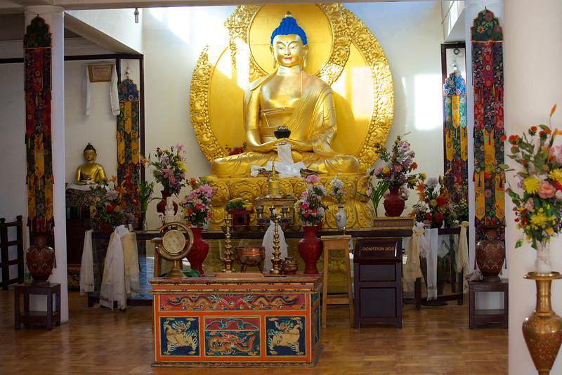 Buddha at Shanti Stupa