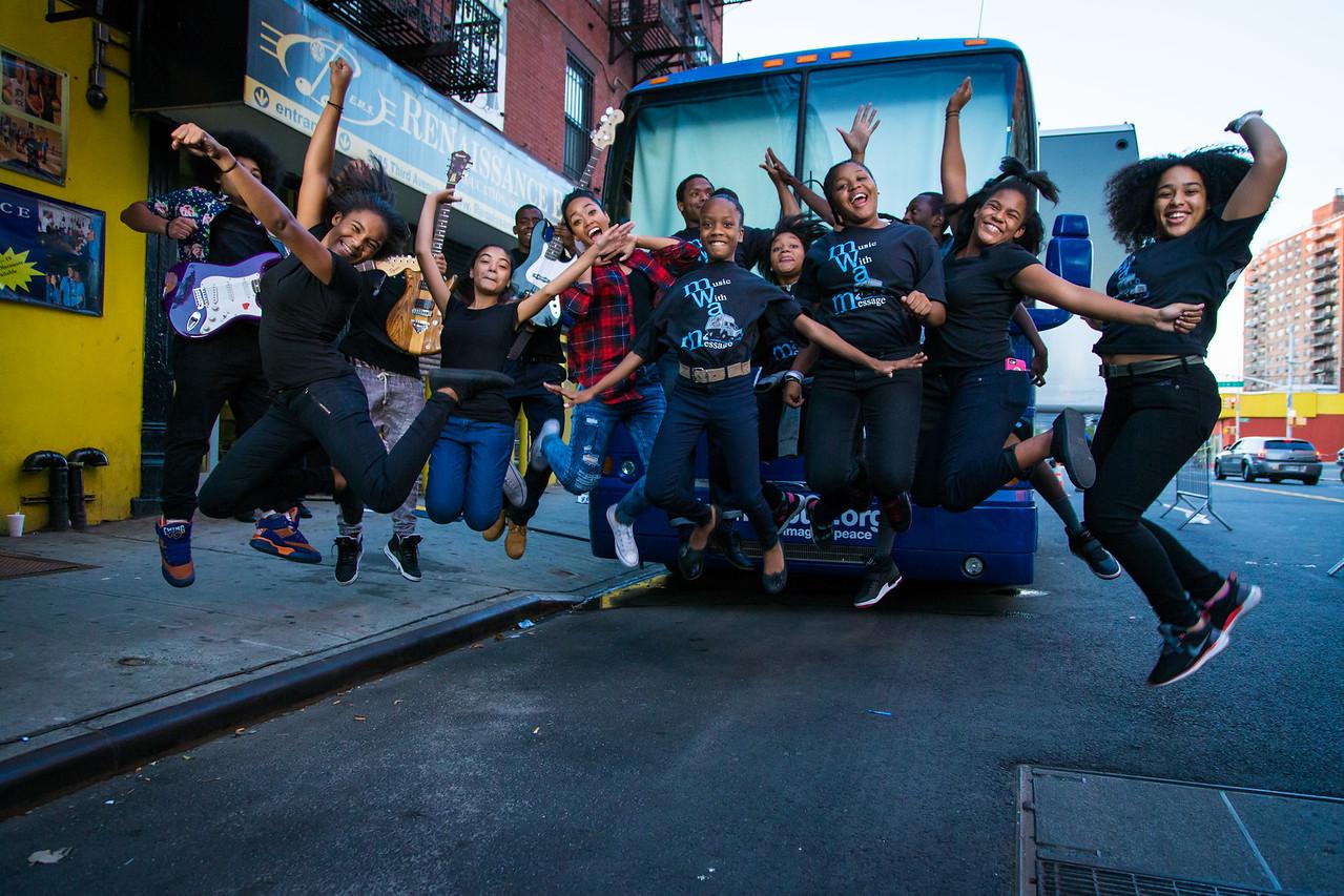 2015_09_17, Berklee City Music Network, Bronx, NY, NYResidency, Renaissance Youth Center, Jump Shot, Outside, Bus