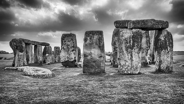 Storm over Stonehenge, England, 2012