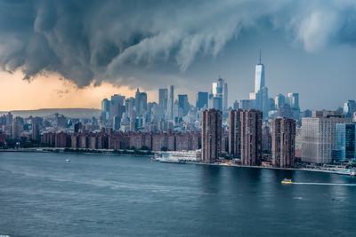 Storm clouds engulfed lower Manhattan