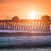 Sunset Surf at San Clemente Pier