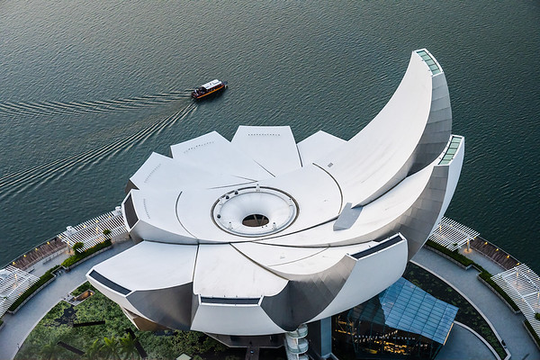 ArtScience Museum from above.