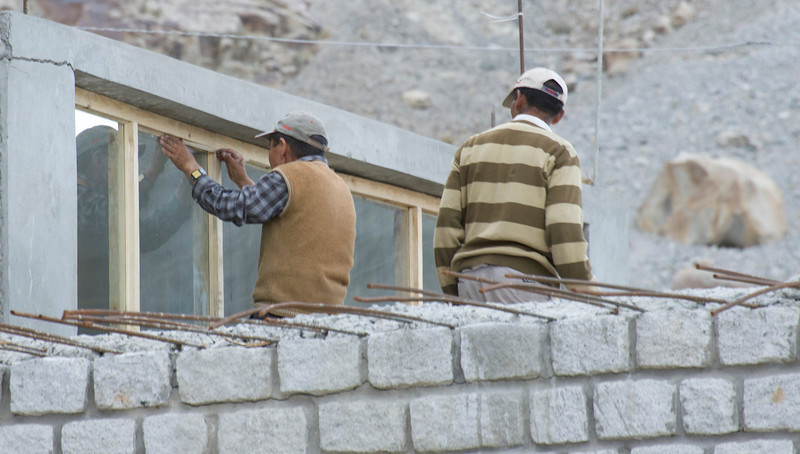 Construction Workers in the Nubra Valley