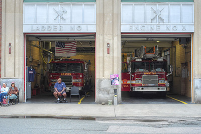 20120730.   Fire station in North End of Boston.