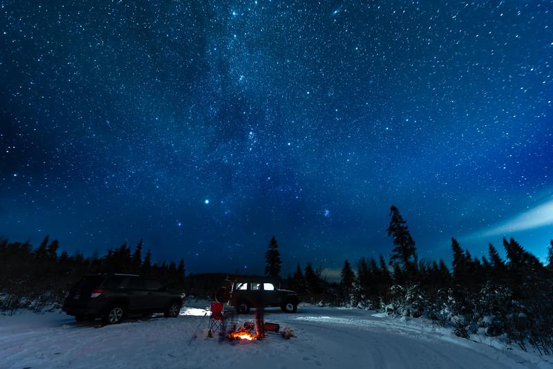 Campfire under ten thousand stars...
